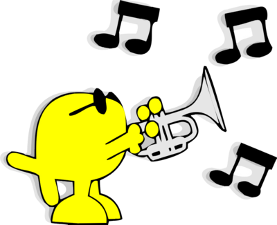 Image download: Playing Trumpet | Christart.com