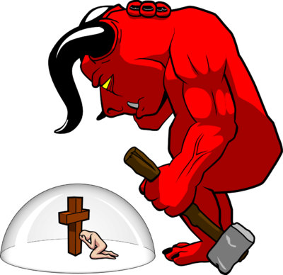 Image: Protected from Demons | Satan Clip Art | Christart.com